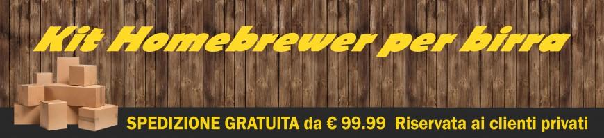 Kit Homebrewer per produzione birra