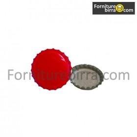 Tappi corona  d. 29mm Colore Rosso  200pz