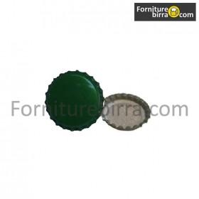 Tappi corona  d. 29mm Colore Verde  200pz